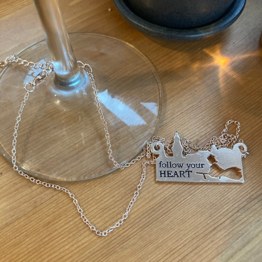 """Necklace with """"Follow your heart"""" imprinted"""